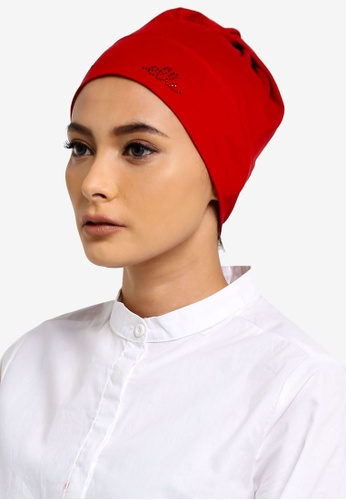Elle red Ell Inner Hijab Open Back Rwn Knt 06B3DAAF0BED6BGS_1