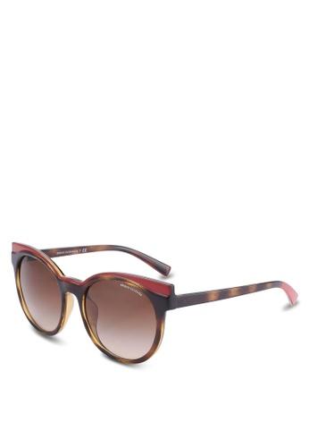 Armani Exchange brown Retro AX4064SF Sunglasses AR162GL65QUCMY_1