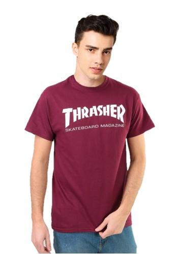 Thrasher Thrasher Skate Mag T-Shirt Maroon 520D4AAE0BEE33GS_1