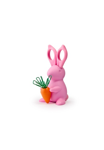 Qualy Qualy Desk Bunny Scissors & Paper Clip Holder (Pink) 582D8HLA05BE34GS_1