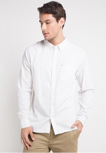 hurley white and multi One & Only 2.0 Long Sleeve Shirt 4CF1DAA37901CFGS_1