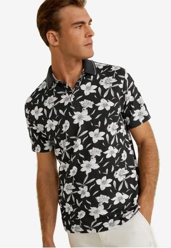 8faab1c2bd Floral Print Cotton Polo Shirt