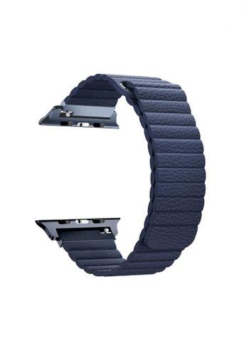 Promate blue Lavish-42 Blue High Quality Fiber Strap for 42mm & 44mm Apple Watch 135B6AC5E19FE6GS_1