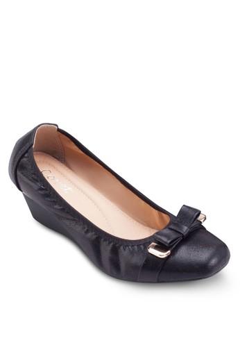 蝴蝶結楔型跟鞋, 女鞋, 厚底楔esprit 品質形鞋