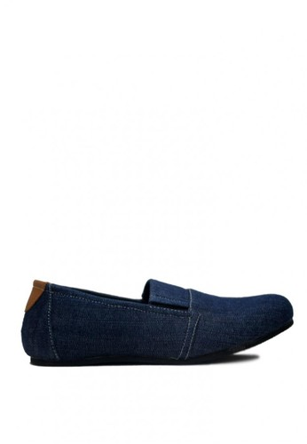 D-Island blue D-Island Shoes Slip On Casual Oxford Leather Blue DI594SH0VXXPID_1