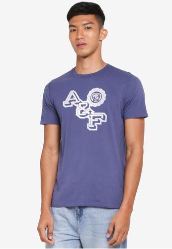 Abercrombie & Fitch 藍色 Brand Logo T-Shirt E623DAA46C8FF4GS_1
