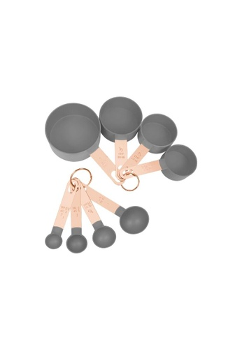 DILAS HOME 8pc Rose Gold Measuring Cup and Spoon Set (Grey) 344FAHLD71066CGS_1