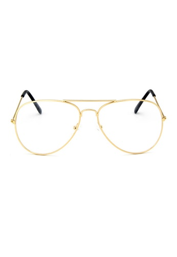 Elitrend gold Metal Pilot Glasses with Gold Frame C2F5FGLE8D4A7BGS_1