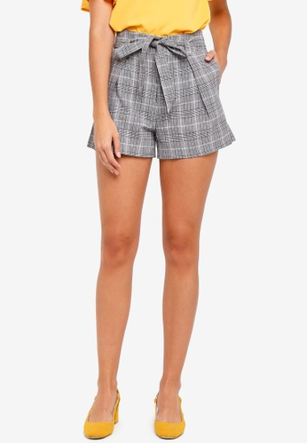 ZALORA multi Self Tie Shorts 5B73FAAD167BE4GS_1