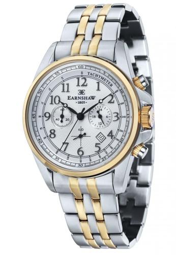 Thomas Earnshaw silver and gold Thomas Earnshaw COMMODORE ES-8028-44 Men's Two Tones   Solid Bracelet<br /> Watch 7E270ACF07E189GS_1