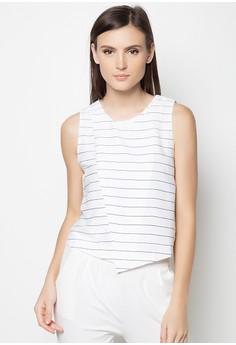 Striped Midriff Top