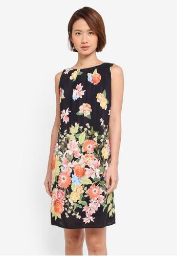 Wallis black Petite Black Floral Shift Dress 9FDE7AA4588C22GS_1