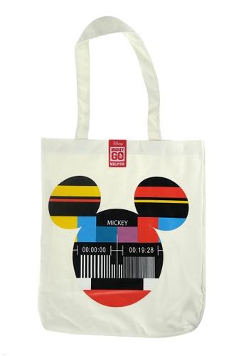 Disney Mickey white Disney Mickey Mouse Go Local Tote Bag (Nostalgic) F31A3ACD3DEC98GS_1