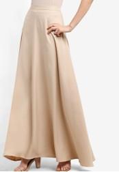 Soonaru beige Flare Skirt SO016AA13PDAMY_1
