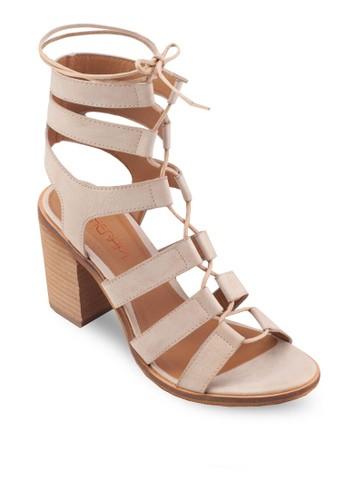 Thorizalora是哪裡的牌子n 羅馬繫帶粗跟涼鞋, 女鞋, 鞋