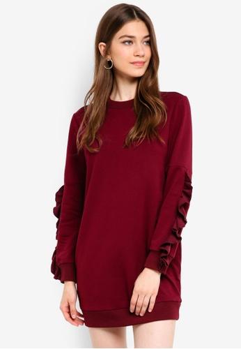 Something Borrowed red Raw Edge Sweater Dress C6E27AAD2AE776GS_1
