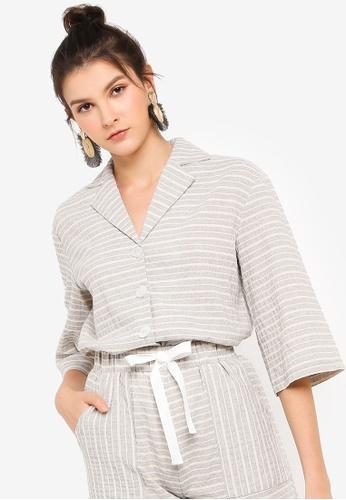 Tula Cruz grey Resort Shirt with Novelty Buttons 48D8EAA7DCF16DGS_1