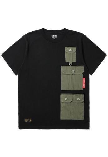 izzue black Multi-pocket utility tee B2501AA6F0F099GS_1