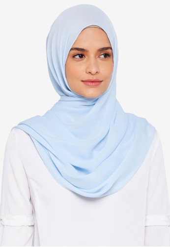 Lubna blue Basic Shawl 0ECFFAA8787092GS_1