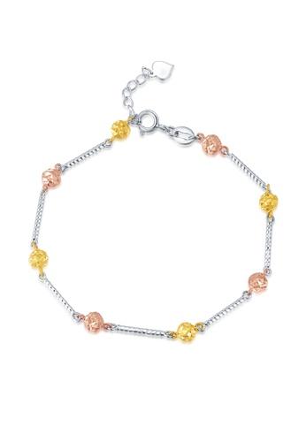 MaBelle silver and gold 14K/585 Tri Color Gold Gold  flower Bracelet 7AF51AC7B9D07BGS_1