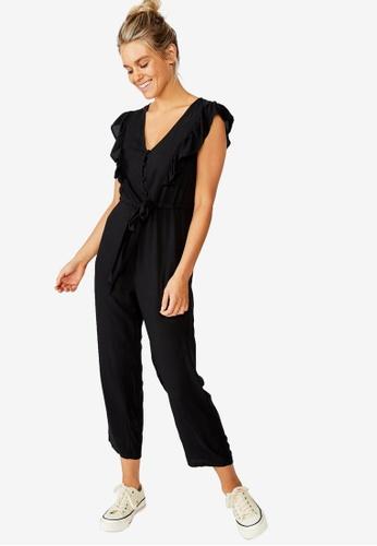 Cotton On black Woven Freddie Ruffle Jumpsuit F5E0BAA3E6C803GS_1