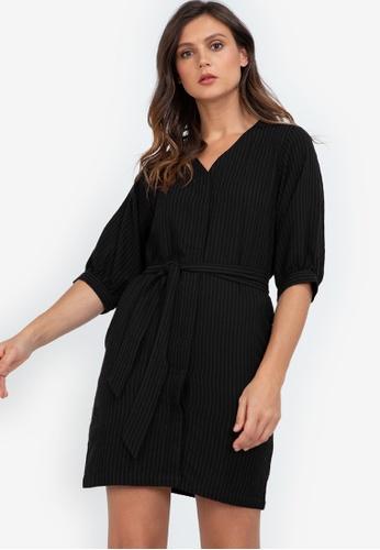 ZALORA WORK black Puff Sleeve Mini Dress 8D387AAA5BE7C7GS_1