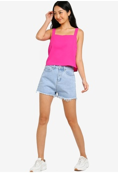 ce283bf6b 25% OFF Something Borrowed Frayed Hem High Waisted Shorts HK$ 229.00 NOW  HK$ 171.90 Sizes XS S M L XL