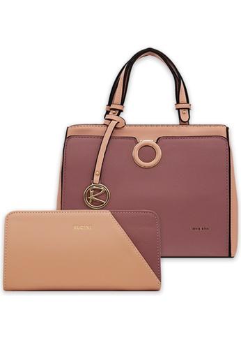 RUCINI pink Rucini Handbag with Wallet Pink 4BD38AC6D71D4EGS_1