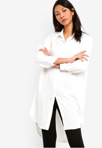 ZALORA BASICS white Basic Long Sleeves Shirt Tunic CC112AAAF7701BGS_1