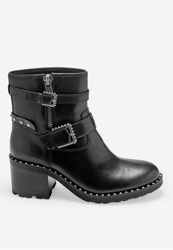ASH black Xenon - Black Rivets embroidery Biker Boots 67E3DSH0096C9FGS_1
