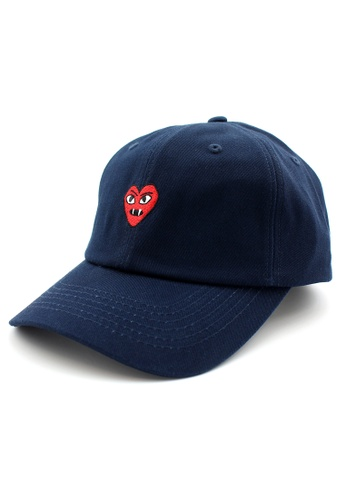 DOSSCAPS navy PREMIER Devil Heart Baseball Cap (Navy) DO290AC0S3QKMY_1