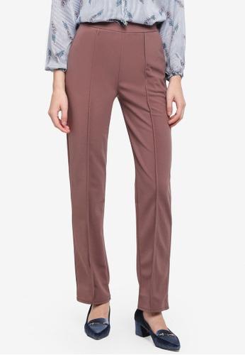 BYN brown Straight Leg Pants BEAC2AA9975367GS_1