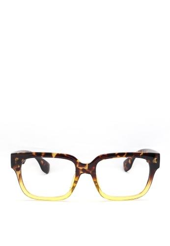 Kaca-kaca black and yellow and multi Kaca Kaca Leonardo Eyeglasses KA666AC0RJCNMY_1