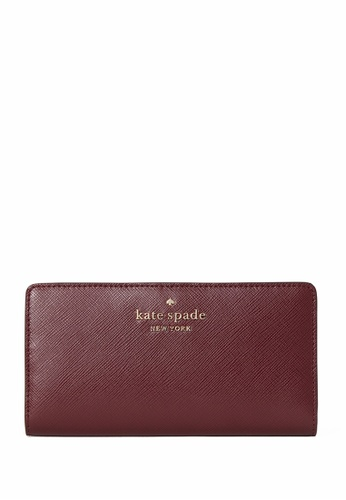Kate Spade red Kate Spade Staci Large Slim Bifold Wallet - Cherrywood 40F36AC79662CAGS_1