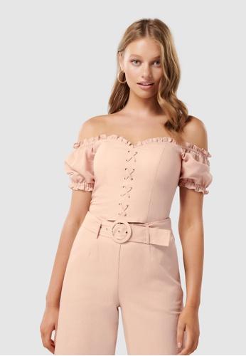 dae5b7dd72369 Buy Forever New Elise Lace Up Corset Online on ZALORA Singapore