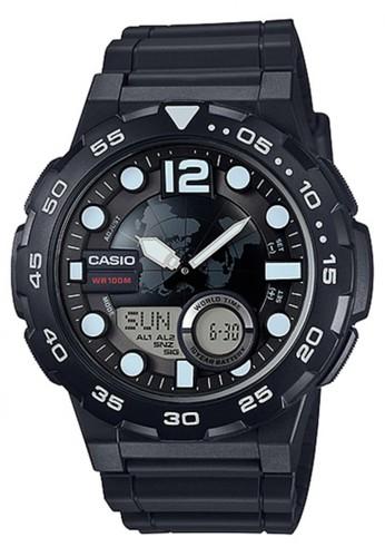 Casio black Casio Analog Digital Jam Tangan Pria - Hitam - Strap Karet -  AEQ- 546967634a