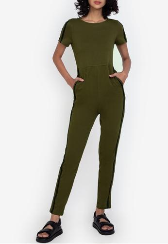 ZALORA BASICS multi Back Split Jersey Jumpsuit 94329AAE68D0E6GS_1