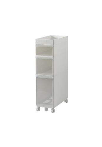 HOUZE white HOUZE - KRUSTY - 3 Tier Rolling Storage Cabinet B7F8FHLA347221GS_1