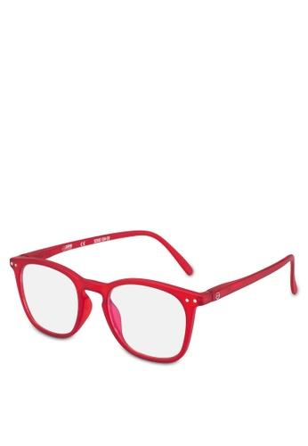 Izipizi 紅色 矩形鏡片太陽眼鏡 7F873GL9C11961GS_1