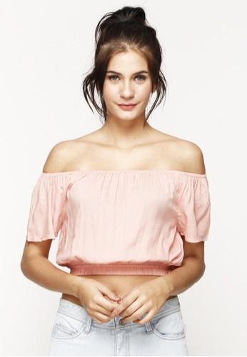 Just Jo Design pink Caroline Top Peach 1DA2FAA209B21CGS_1