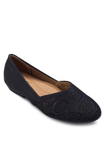 雕花娃娃鞋,esprit holdings 女鞋, 芭蕾平底鞋