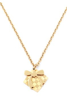 Ribbon Rose Gold Plated Necklace