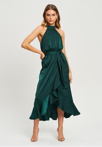 Tussah green Talisha Midi Dress A2A5BAA8317E79GS_1