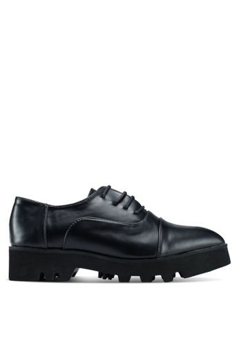 Something Borrowed black Metallic Lace-Up Brogues 51B15SH9E7E3C0GS_1
