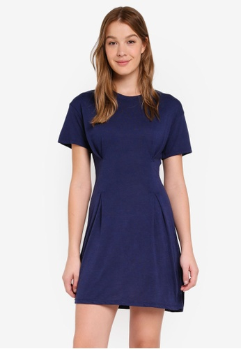 Cotton On navy Tory Waisted Detail Tshirt Dress DFCA1AABB85DCFGS_1
