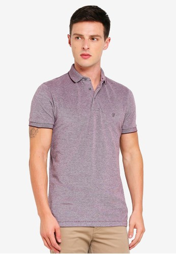 French Connection purple Summer Oxford Pique Polo Shirt D2F22AA7BFB927GS_1
