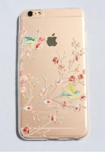 Shop Fancy Cellphone Cases Birds On The Garden Soft Transparent Case
