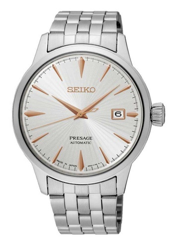 Seiko silver Seiko Presage Rose Gold and Silver Stainless Steel Watch 7650AAC51C0EFAGS_1