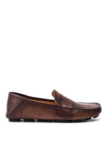 Twenty Eight Shoes Cristoforo Vintage Leather Loafers BL06 16262SH8165B51GS_1