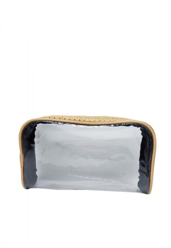 Stylesource beige Make Up Pouch Transparent 6110EAC8432C25GS_1
